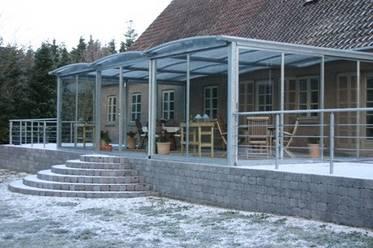 overdækket terrasse stål