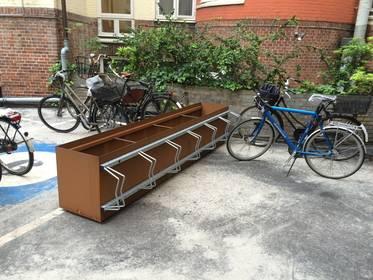 Cykelstativ galvaniseret stål